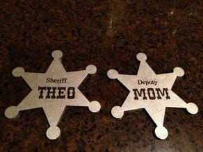 Cowboy Sheriff badge