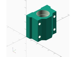 Parametric linear bearing housing SCxxUU in openSCAD