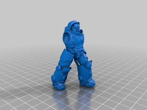 Aggressive Space Soldier (Pose-able)