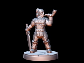 Barbarian Horn Bearer (15mm scale)