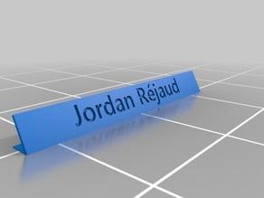 Jordan Rejaud Name Tag
