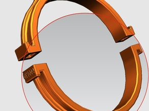 Collare inferiore reggi tubo d15 cm. per aspiratore CNC - Collar down for support of a 15 cm diameter vacuum tube