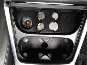 Volvo V70 (MY2014) Coin Holder (UK coins)