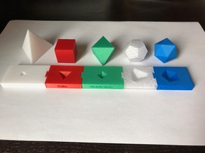 Platonic solids and holder