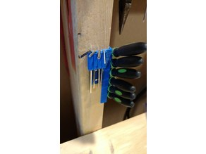 Hex Key and Needle File Stud-Mount Tool Rack