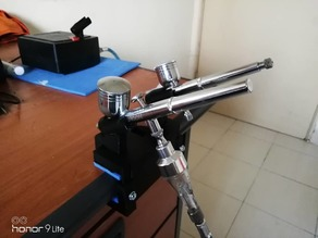 Airbrush Holder with Table Clamp (Manual Screw)