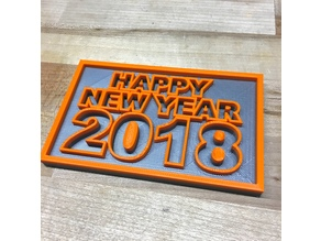 Happy New Year 2018 Plaque