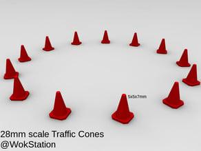 Traffic Cones 28mm scale