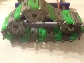 28byj-48 Stepper mount and Gear Wheel Mount for TOM Tri Track Robot