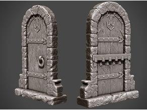 Wooden Dungeon Door!