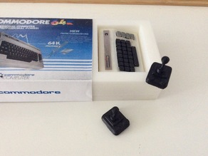 Competition Pro Joystick and Box Inlay for Tiny Commodore 64