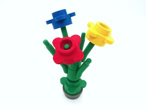 Big flower heads LEGO Style - fully playable (with bouquet stem)