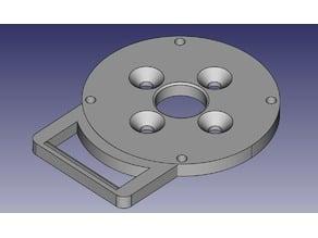 Motor support Volantex ASW 28 V2 with cable catcher  (Soporte Motor con colector de cables)