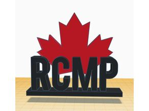 RCMP sign with maple leaf