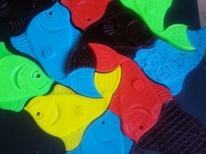 Escher Fish #20