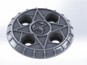 Abarth Wheel Cover for Fiat Cars