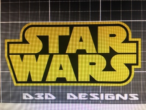 Star Wars receiver hitch or plaque MMU