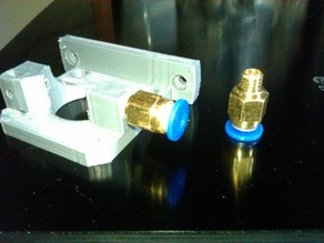 Compact Bowden Extruder (remix ) for 6mm external diameter of fitting and MK8 drive gear