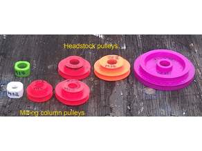 Emco Unimat 3 low and high speed pulley set