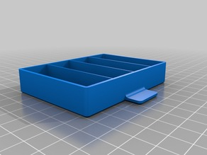 Drawer box with four #1 compartments