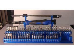 Screwdriver set desk holder