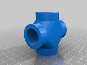 "3/4"" PVC Cross joint pipe fitting"