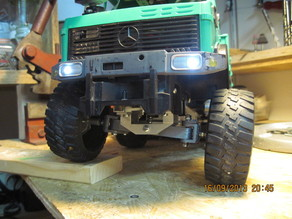 Printed front axle for Mercedes Unimog 1:16 model truck