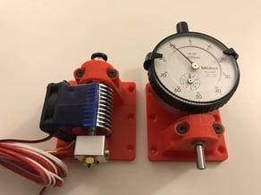 Dial Gauge Mount & Hot end Bowden extruder for 3D printer