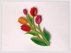 "Quilling ""Tulips""."