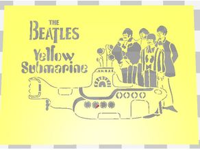 YELLOW SUBMARINE STENCIL