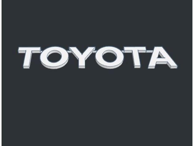 toyota logo badge for tacoma tundra land cruiser 4runner by teewuane rh thingiverse com toyota tundra logo vector toyota tundra logo font
