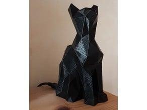 Indoor Weather Station - Low Poly Cat (ESP8266)