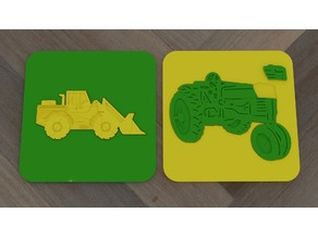 Puzzle frontloader tractor for kids
