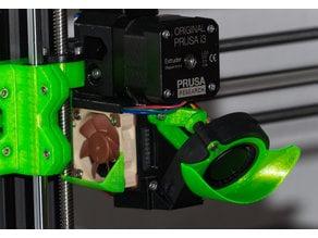 Prusa MK3 low noise fan shroud (40° angle)