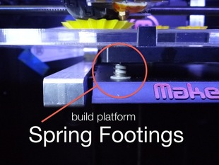 Customizable Spring Footings for Replicator 2/2X Build Plate