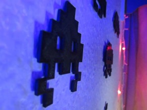 3D Printed Space Invaders Decorations
