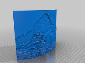 Iceberg and Yacht Lithophane (Customizable Size) - Photo by Caleb Anstey Photography