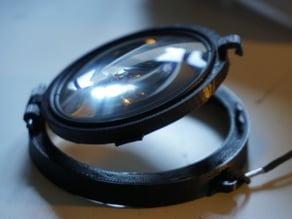 Flip lens holder for Meikon underwater camera housing