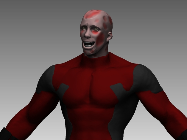 Deadpool No Mask By Lukeroo Thingiverse