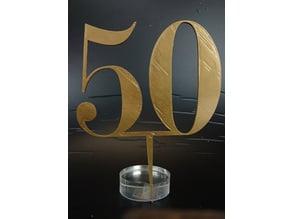 50 Anniversary Cake Topper