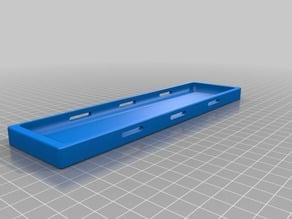 lipo tray for rc boat  big 3/4s 4000 mah + with strap slots