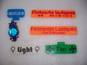 Custumizable Nametag with Icons