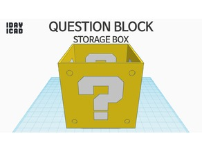 [1DAY_1CAD] QUESTION BLOCK STORAGE BOX