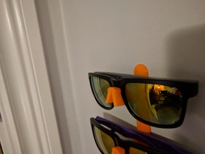 Snap together sunglasses holder