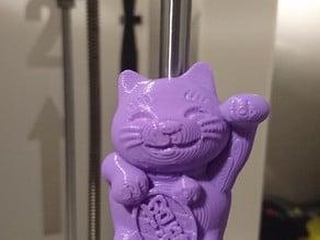 Lucky cat fridge magnet