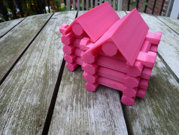 toy log cabin instructions