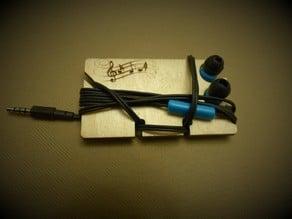 Laser cut Earbud holder
