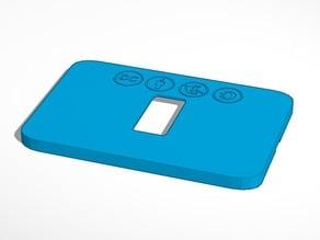 Placca elettrica compatibile BTICINO serie con 1-2-3 frutti - creative commons