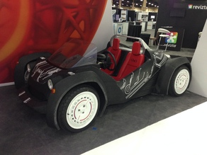 Local Motors Strati 3D printed car - modified for rolling wheels and detail