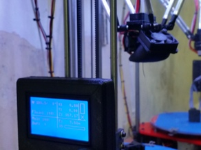REPRAP Discount Graphic LCD case holder for Rostock Mini